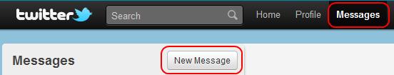 Twitter - privatne poruke direktno sa sajta