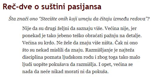 Suština pasijansa - http://drgrba.info