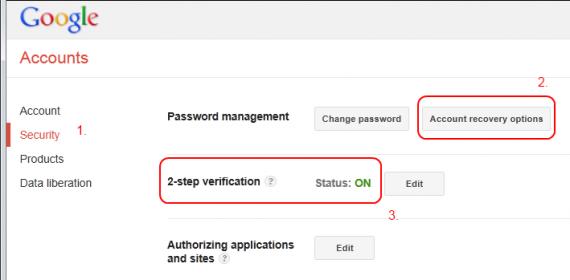 Google nalog - bezbednost
