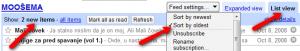 Google Reader - podešavanje bloga za efikasno čitanje (klikni za veću sliku)
