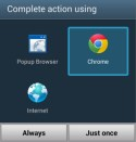 How to setup Chrome as default Android mobile browser