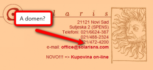 Solaris: kontakt strana (klikni za veću sliku)