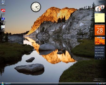 Vista - Desktop i Sidebar
