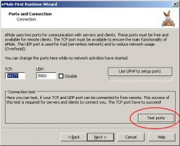 eMule - Testiranje portova za pristup eMule serverima