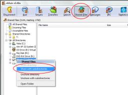 eMule - deljenje vaših datoteka