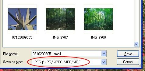 Snimanje slike u jpeg formatu
