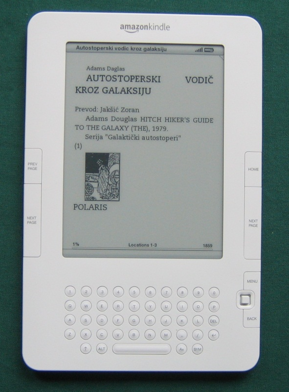 Amazon Kindle - elektronska knjiga