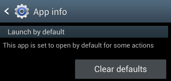 Android: clear defaults