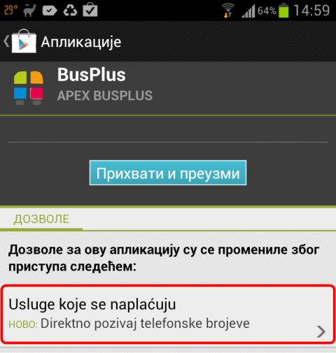 BusPlus - nova privilegija