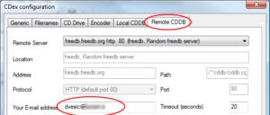 CDEx: Remote CDDB