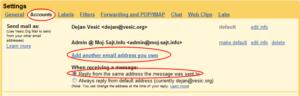 Gmail: dodavanje novog identiteta
