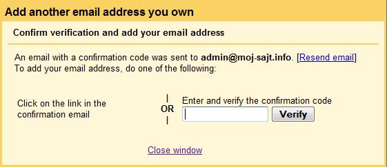 Gmail: dodavanje novog naloga