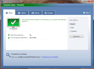 Microsoft Security Essentials - besplatan Windows antivirus
