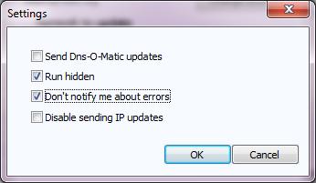 Opendns Updater: podešavanja