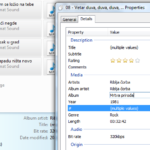 Vista: podešavanje MP3 vrednosti za više pesama