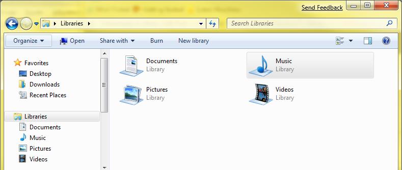 Windows 7 - Biblioteke (klikni za veću sliku)