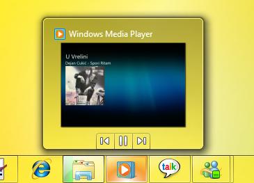 Window 7 Taskbar - pregled aktivne aplikacije