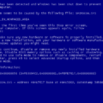 Windows XP - Blue Screen Of Death