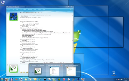 Windows 7: Aero Peek